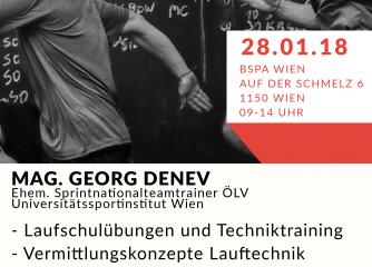 Mag. Georg Denev |Laufschule - Vermittlung und Transfer in Sportarten - Workshop
